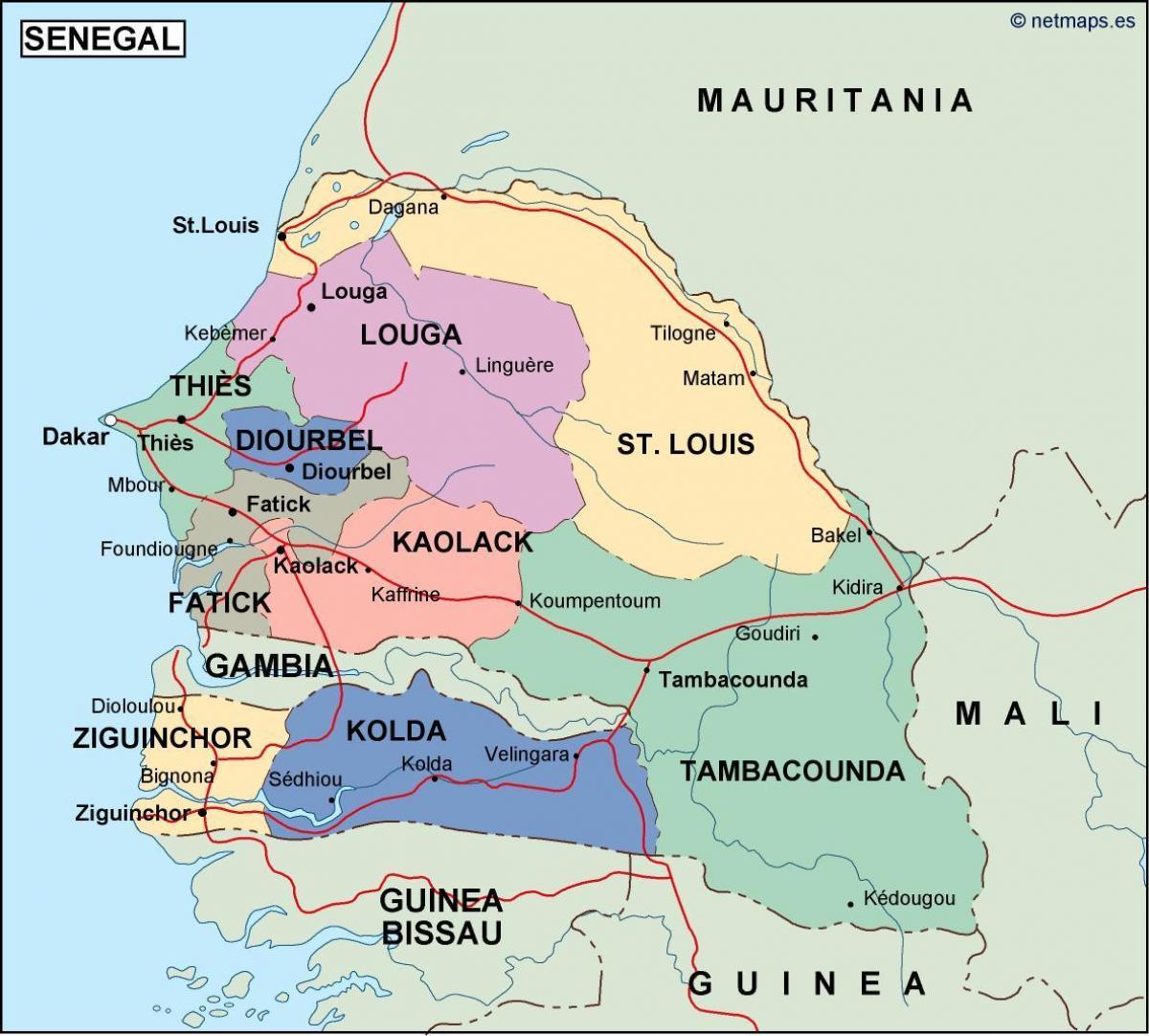 Africa Occidentale Cartina.Senegal Paese Sulla Mappa Mappa Del Senegal Paese Africa